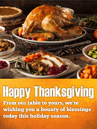 Yummy Feast - Happy Thanksgiving Card
