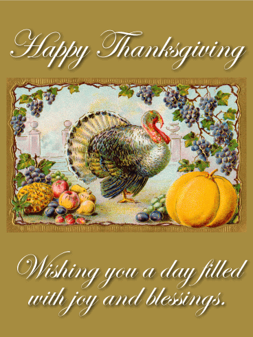 Have a Joyful Holiday! Happy Thanksgiving Card