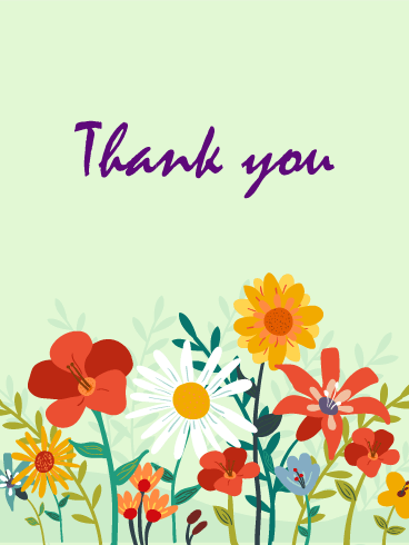 Flower Garden Thank You Card