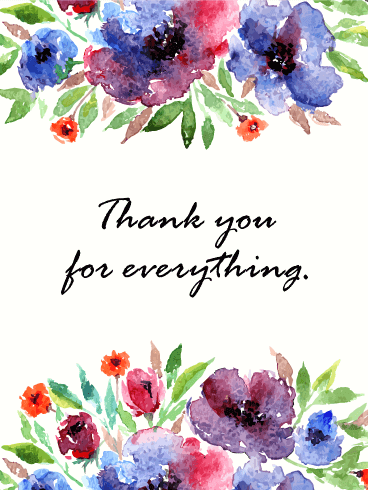 Hand Letter Style Thank You Card