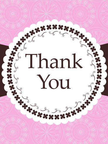 Frilly Lace Thank You Card