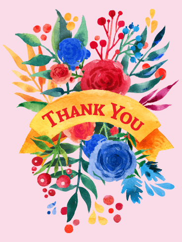Vivid Flower Thank You Card