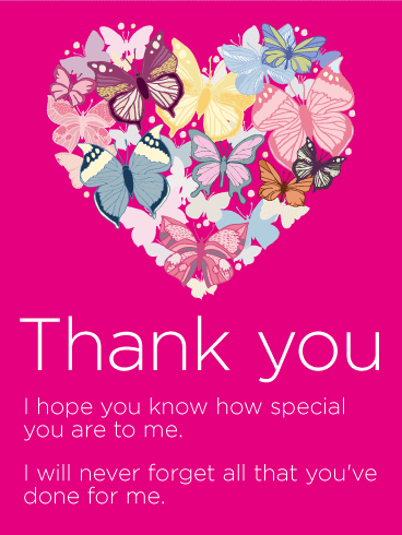 To my Special Someone - Thank You Card