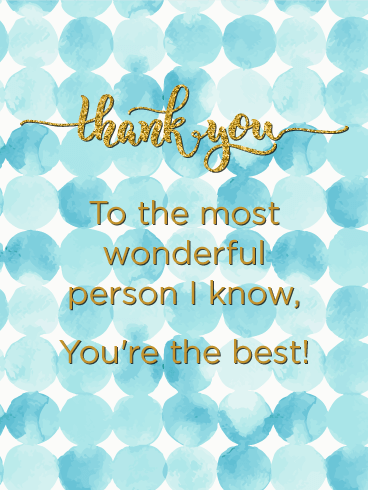 You are the Best! Thank You Card