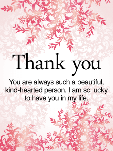 To a Kind-Hearted Person - Thank You Card
