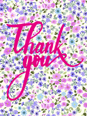 Petite Flower Thank You Card