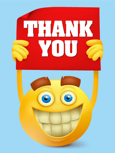 Smiley Face Thank You Card