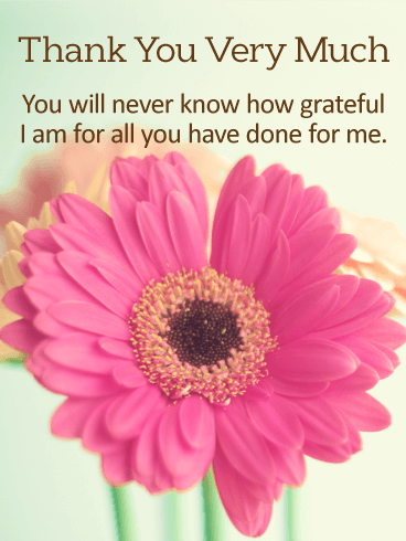 I am Grateful For You - Thank You Card
