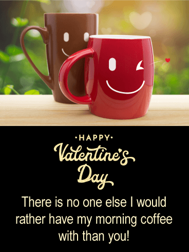 Morning Coffee Together - Happy Valentine's Day Card for Him