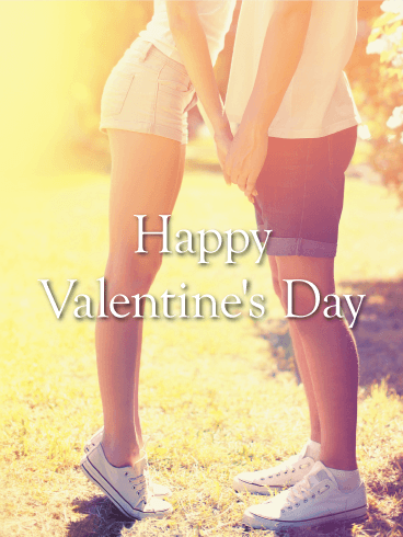 Loving Couple Happy Valentine's Day Card