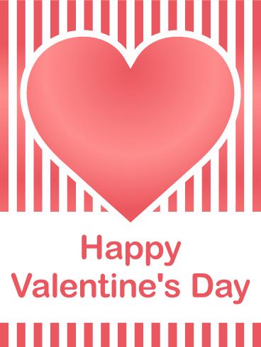 Balloon Happy Valentine's Day Card   Birthday & Greeting Cards ...