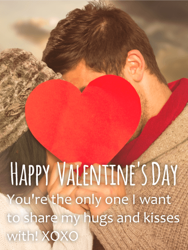 XOXO - Happy Valentine's Day Card