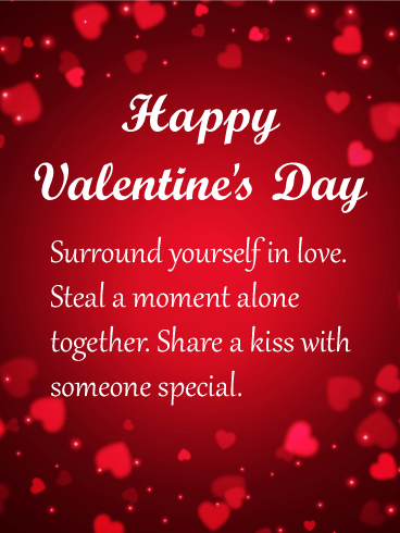 Surround Yourself In Love Happy Valentine's Day Card Birthday Impressive Quotes Valentines Day Funny
