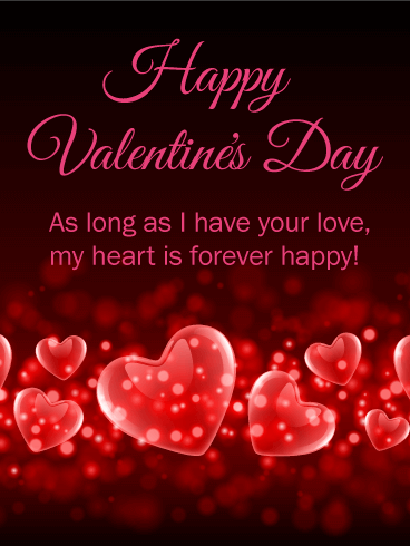 My Heart is Forever Happy - Happy Valentine's Day Card