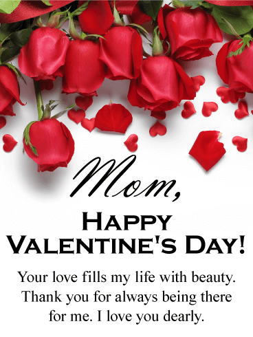 Your Love Fills my Life - Happy Valentine's Day Card for Mother