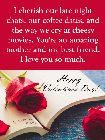 I Love You Mom! Happy Valentine's Day Card for Mother