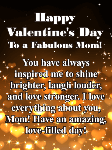 To a Fabulous Mom - Happy Valentine's Day Card