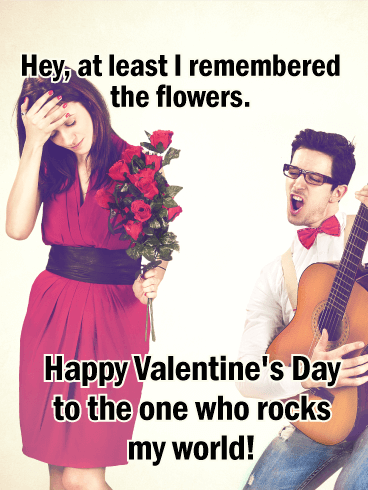 You Rock my World! Funny Valentine's Day Card