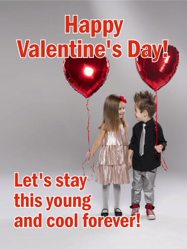 Young & Cool Forever! Funny Valentine's Day Card