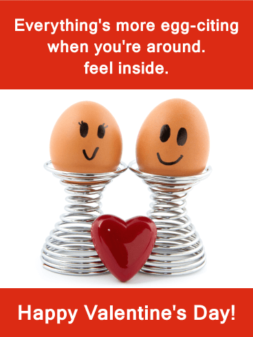"""Egg-citing"" Funny Valentine's Day Card"