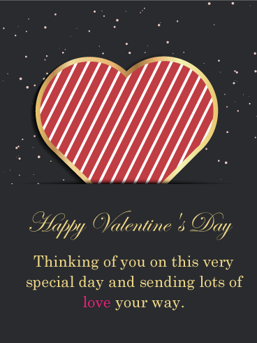 Sending Lots of Love - Happy Valentine's Day Card for Him