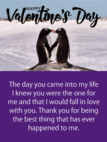 Penguins in Love - Happy Valentine's Day Card for Him