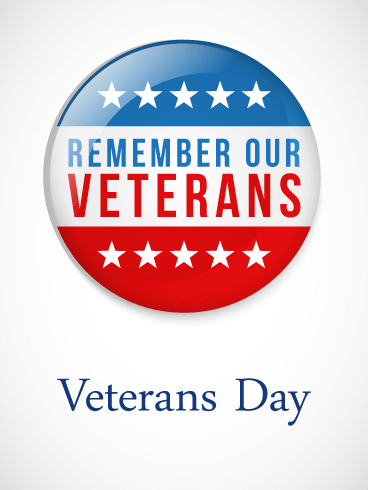 Remember Our Veterans Day Card