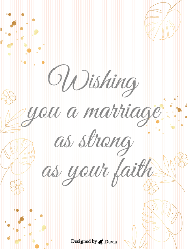 Marriage & Faith – Wedding Cards