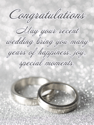 Happiness & Joy – Wedding Card
