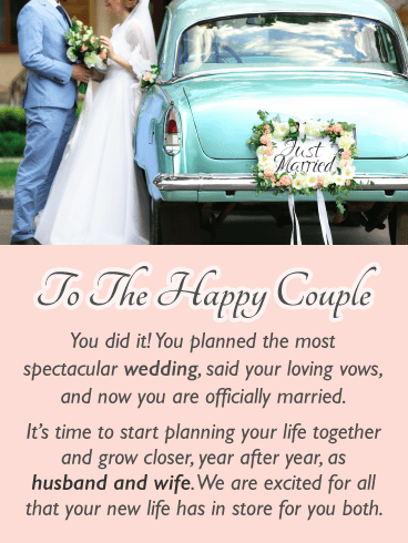 The Happy Couple – Wedding Card