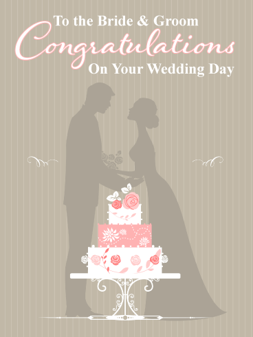 A Perfect Celebration Cake – Wedding Day Card