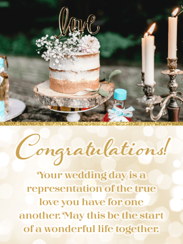 True Love – Wedding Day Card
