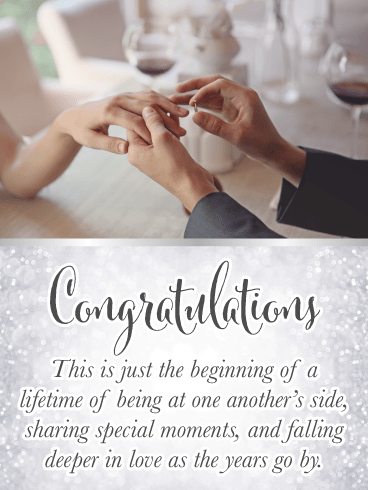 Just the Beginning – Engagement Card