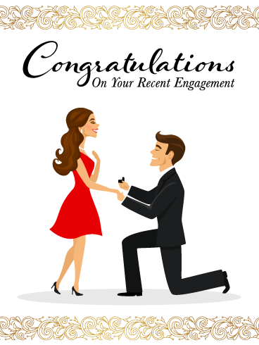 A Wonderful Proposal – Engagement Card