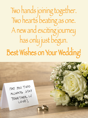 White Rose-Happy Wedding Card