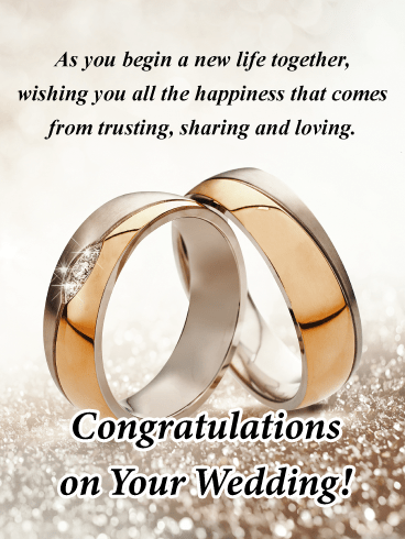 Sparkly Wedding Ring-Engagement Card