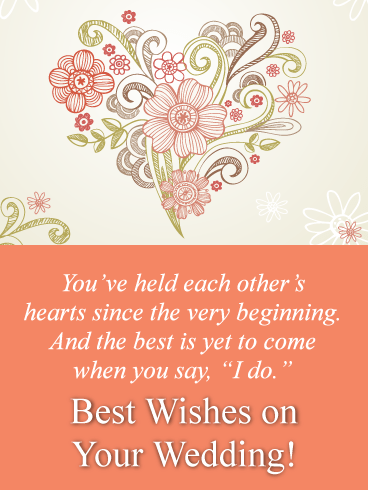 Heartfelt Message-Happy Wedding Card