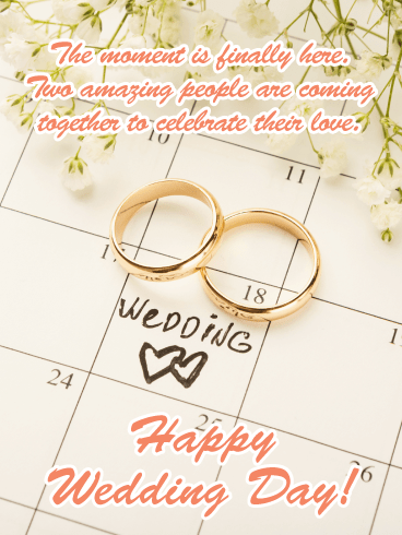 Two Gold Rings-Happy Wedding Card