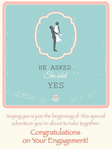 Sweet Vintage-Engagement Card