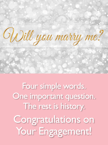 Messages with Dazzling Background-Engagement Card