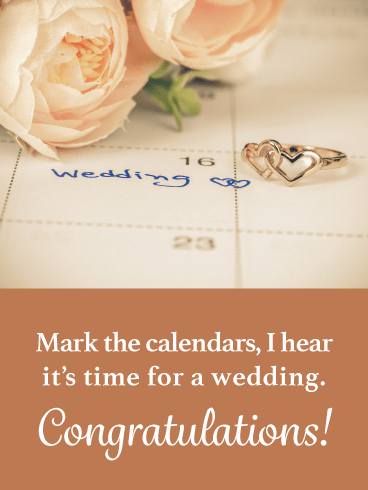 Mark the Calendar- General Wedding Card