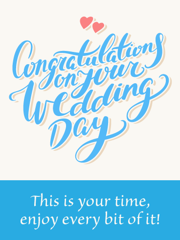 Congratulations- Wedding Day Card