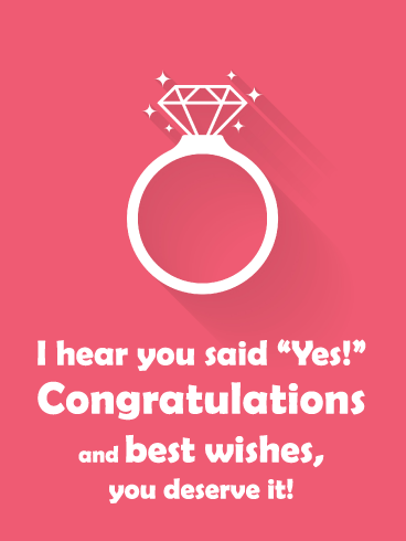 Sparkling Ring- Happy Engagement Card