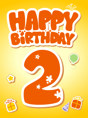 Happy 2nd Birthday Card