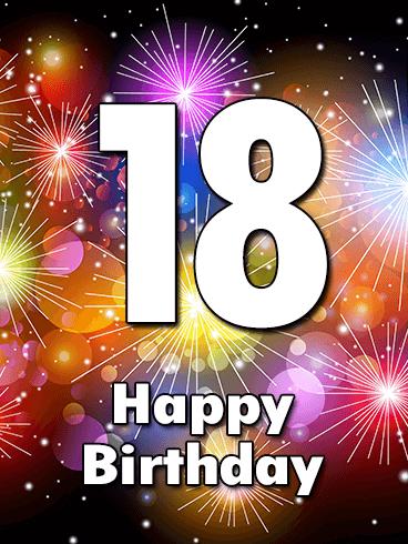 Happy 18th Birthday Cards Birthday Greeting Cards By Davia