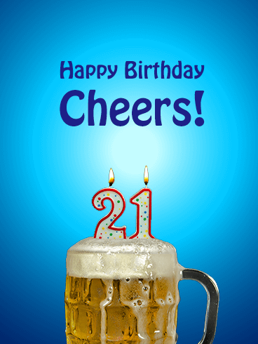 Beer Happy 21st Birthday Card