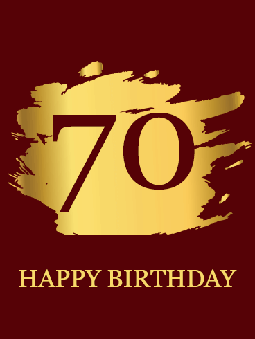 Red Happy 70th Birthday Card